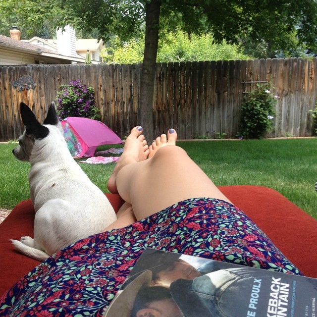 What I did all day after I turned in my edits. Shelby's favorite kind of day.
