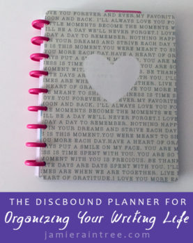 the discbound planner for organizing your writing life create 365