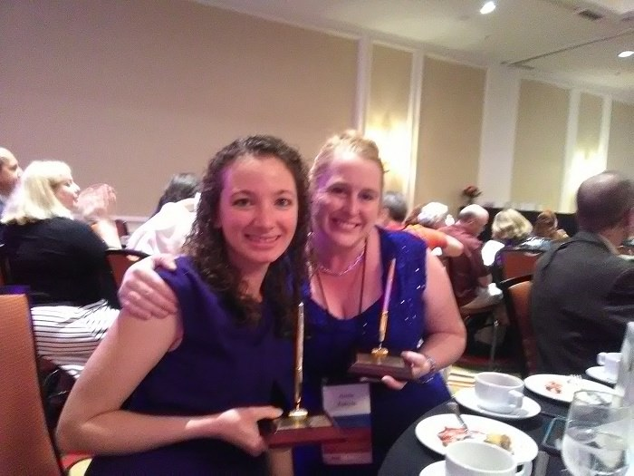 Aimie K. Runyan and me with our PEN Awards