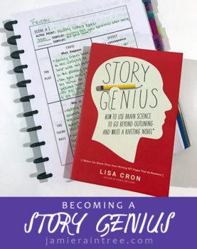 Becoming a Story Genius: A Review of Story Genius by Lisa Cron by Jamie Raintree | http://jamieraintree.com #writetip #writerwednesday #amwriting